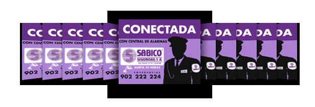 Sabico Conectada a Central  Receptora de alarmas, 902.22.22.24