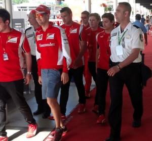 Seguridad y deporte : Acompañando a Sebastian Vettel
