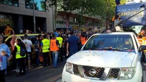 Acompañando al Barça por las calles de Barcelona