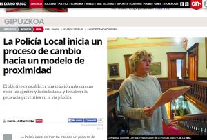 Reflejo de la noticia en la edición del Diario Vasco