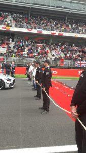 Personal de Sabico Seguridad marcando la línea de Salida del Gran Premio de Formula 1