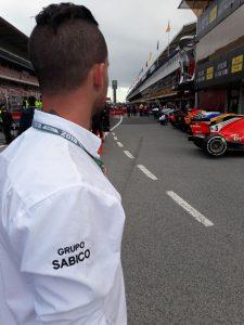 Control del monoplazas tras el Gran Premio.